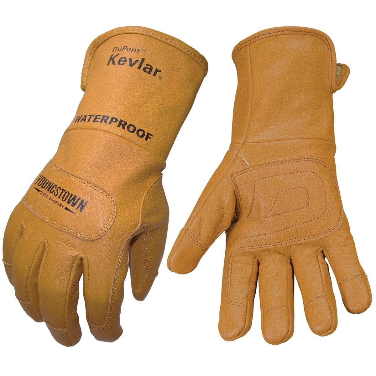 Leather work gloves with wool lining - Progarm 2678 Glove Anti Static 55 5cal Cm