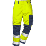 FRISTADS Flame Trousers Hi-Vis cl 2 2042 FBPA Yellow/Navy – Class 1, 13 cal/cm²
