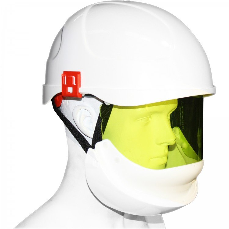 ELECTRICALLY INSULATED SAFETY HELMET (SECRA) WITH INTEGRATED ARC FLASH FACE SHIELD - Class 2, 24.0 CAL/CM²