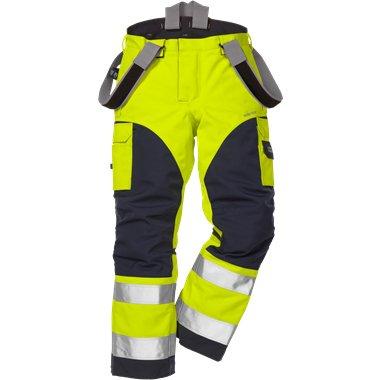FRISTADS GORE-TEX Trousers 2089 GXH Hi-Vis Yellow/Navy - Class 2, 29.6 cal/cm<sup>2</sup>
