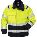 FRISTADS Winter Jacket 4185 ATHS Hi-Vis Yellow/Navy – Class 2, 10.5 cal/cm<sup>2</sup>