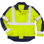 FRISTADS Flame Hi-vis jacket cl 3 4846 Yellow/Navy - Class 1, 13 cal/cm²