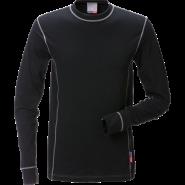 FRISTADS T-Shirt Flamestat long sleeve 7026 Black – Class 1