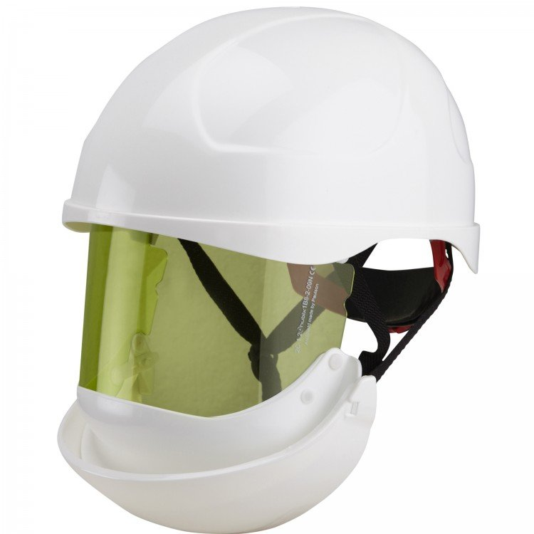 ELECTRICALLY INSULATED SAFETY HELMET (SECRA) WITH INTEGRATED ARC FLASH FACE SHIELD - Class 2, 8.0 CAL/CM²